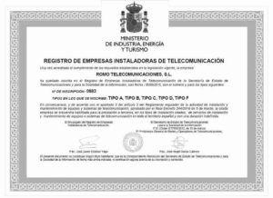 Acreditaciones Romo Telecom
